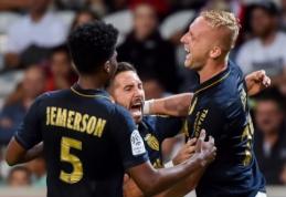 """Prancūzijoje - dar vienas """"Lyon"""" pralaimėjimas ir """"Monaco"""" kilimas į pirmąją vietą (VIDEO)"""