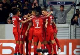 """E. Cavani įvartis leido PSG ekipai palaužti """"Lille"""" (VIDEO)"""
