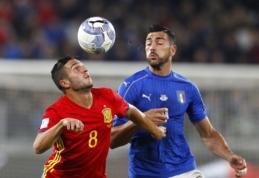 PČ atranka: italai ir ispanai sužaidė lygiosiomis, Ukraina iššvaistė persvarą prieš Turkiją (VIDEO)