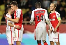 """Ligue 1: triuškinanti """"Monaco"""" pergalė prieš """"Marseille"""" bei """"Guingamp"""" lygiosios su """"Caen"""" (VIDEO)"""