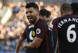 """S. Aguero dublis atvedė """"Man City"""" į pergalę prieš """"Burnley"""" (VIDEO)"""