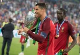 Pasirodė išskirtinis C. Ronaldo vaizdo įrašas po triumfo Europos čempionate (VIDEO)