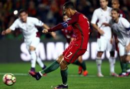 PČ atranka: portugalai turėjo paplušėti prieš latvius, Belgija įspyrė 8 įvarčius (VIDEO)