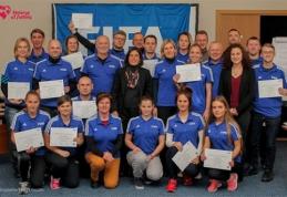 Moterų komandos Anykščiuose sėmėsi vadybos patirties