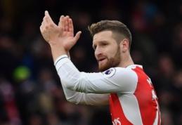 """""""Arsenal"""" komandai - geros naujienos dėl S. Mustafi ir D. Welbecko"""