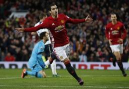"""H. Mkhitaryano įvartis nulėmė """"Man Utd"""" pergalę prieš """"Spurs"""", """"Liverpool"""" ir """"West Ham"""" išsiskyrė taikiai (VIDEO)"""