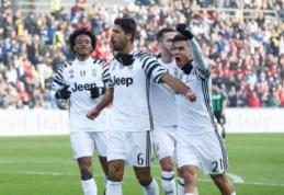 """Italijoje - """"Juventus"""" pergalė, """"Napoli"""" lygiosios bei """"Milan"""" ir """"Roma"""" pralaimėjimai (VIDEO)"""