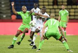 Turnyro favorite laikyta Alžyro rinktinė baigė pasirodymą Afrikos Nacijų taurėje