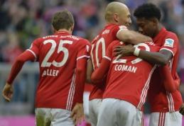 """""""Bayern"""" varžovus nubaudė net aštuoniais įvarčiais, """"Borussia"""" ir """"Leipzig"""" įsirašė pergales (VIDEO)"""