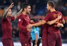 """F. Totti išplėšė """"Roma"""" kelialapį į """"Coppa Italia"""" pusfinalį (VIDEO)"""