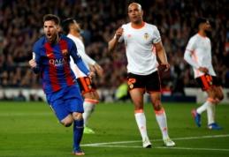 """""""Barcelona"""" palaužė dešimtyje žaidusią """"Valencia"""", """"Atletico"""" pranoko """"Sevilla"""" (VIDEO)"""