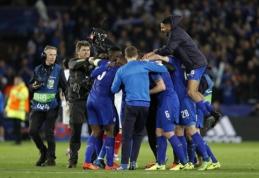 """""""Leicester"""" ir """"Juventus"""" prasibrovė į Čempionų lygos ketvirtfinalį (VIDEO)"""
