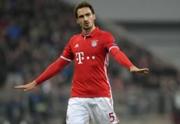 """Sezono epizodas: M. Hummelsas išgelbėjo """"Bayern"""" nuo šimtaprocentinio įvarčio (VIDEO)"""