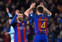 """L. Messi atvedė """"Barca"""" į triuškinančią pergalę, """"Real"""" neturėjo vargo su """"Eibar"""" (VIDEO)"""