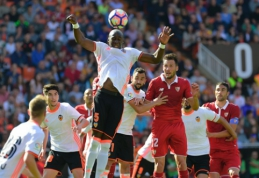 """""""Valencia"""" ir """"Sevilla"""" išsiskyrė be įvarčių, """"Espanyol"""" pasiekė pergalę (VIDEO)"""