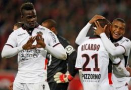 "M. Balotelli dublis leido ""Nice"" triumfuoti prieš ""Lille"" (VIDEO)"
