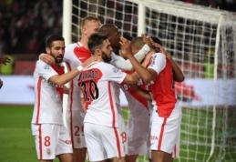 """""""Monaco"""" peržengė 100 įvarčių ribą, bet PSG užsitikrinti """"Ligue 1"""" titulo dar neleido (VIDEO)"""