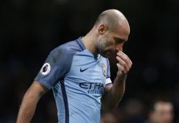 "P. Zabaleta po sezono paliks ""Man City"" komandą"