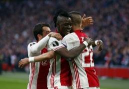 """""""Ajax"""" Europos lygos pusfinalį pradėjo sudaužydamas """"Lyon"""" (VIDEO)"""