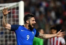 Prancūzai su O. Giroud priešakyje draugiškose rungtynėse sutriuškino Paragvajų (VIDEO)