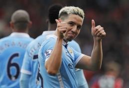 """""""Man City"""" žaidėjai nenori komandoje matyti aroganciją skleidžiančio S. Nasri"""
