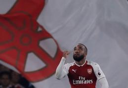 "A. Lacazette'o dublis atnešė pergalę ""Arsenal"" ekipai (VIDEO)"