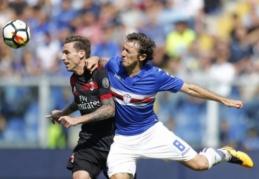 """Milano klubams sekėsi skirtingai, """"Lazio"""" laimėjo, o """"Fiorentina"""" ir """"Atalanta"""" sužaidė lygiosiomis (VIDEO)"""