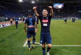 """""""Napoli"""" įveikė """"Lazio"""" ir lieka pirmojoje """"Serie A"""" vietoje (VIDEO, visi rezultatai)"""