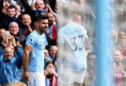 """""""Man City"""" pergalė prieš """"Liverpool"""" - didžiausia per 80 metų, S. Aguero įsirašė rekordą"""