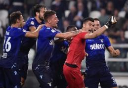 """""""Juventus"""" Italijoje patyrė pirmąją nesėkmę, """"Napoli"""" ir toliau nepraranda taškų (VIDEO)"""