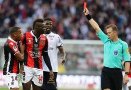 """Ligue 1: """"Nice"""" ir """"Marseille"""" laimėjo, """"Saint-Etienne"""" ir """"Lyon"""" mačą sutrikdė sirgaliai (VIDEO)"""