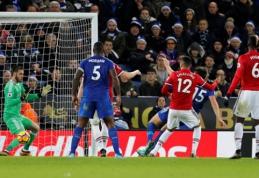 """Dešimtyje žaidęs """"Leicester"""" pačioje rungtynių pabaigoje atėmė pergalę iš """"Man Utd"""" (VIDEO)"""