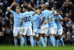 """""""Man City"""" sudaužė """"Bournemouth"""", """"Spurs"""" pergalė pažymėta H. Kane'o """"hat-tricku"""" (VIDEO)"""