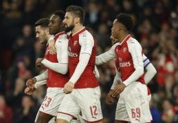 """Anglijos lygos taurės pusfinalyje - """"Arsenal"""" ir """"Man City"""" (VIDEO)"""