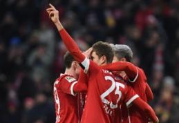 """""""Bayern"""" Vokietijoje tik minimaliu skirtumu palaužė lygos autsaiderius (VIDEO)"""