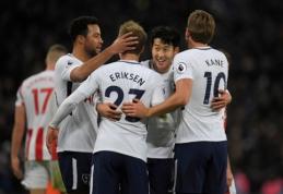 """""""Tottenham"""" pasismagino su """"Stoke City"""", """"Leicester"""" rezultatyvioje kovoje įveikė """"Newcastle"""" (VIDEO)"""