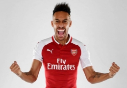 "Oficialu: ""Arsenal"" stiprinasi P. Aubameyangu"