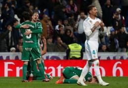 """Sensacija: """"Leganes"""" iš Karaliaus taurės eliminavo bedantį """"Real"""" (VIDEO)"""