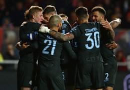 """""""Bristol"""" pademonstravo kovingumą, bet į taurės finalą žengė """"Man City"""" (VIDEO)"""