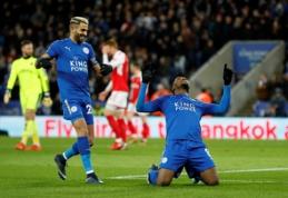 """FA taurė: """"Leicester"""" ir """"West Ham"""" prasibrovė į kitą etapą (VIDEO)"""