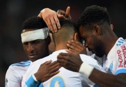 """""""Ligue 1"""": """"Marseille"""" laimėjo ir aplenkė prieš """"Nice"""" vos išsigelbėjusį """"Monaco"""" (VIDEO)"""
