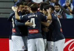 """Vienintelis įvartis Malagoje nulėmė """"Espanyol"""" pergalę (VIDEO)"""