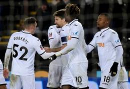 """Swansea"" - FA taurės ketvirtfinalyje (VIDEO)"