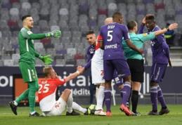 """""""Monaco"""" prarado taškus prieš """"Toulouse"""", """"Nantes"""" nukrito į šeštąją poziciją (VIDEO)"""