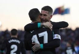 """""""Real"""" įveikė """"Leganes"""" ir pakilo į trečiąją poziciją """"La Liga"""" pirmenybėse (VIDEO)"""