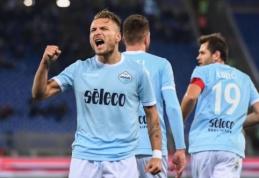 """C. Immobile dublis atvedė """"Lazio"""" į pergalę namie (VIDEO)"""