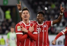 """""""Bayern"""" rungtynių pabaigoje dramatiškai įveikė """"Wolfsburg"""" (VIDEO)"""