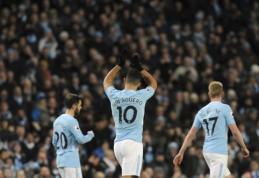 """Keturi S. Aguero įvarčiai antrajame kėlinyje garantavo """"Man City"""" pergalę (VIDEO)"""