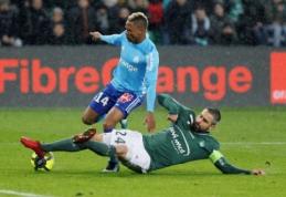 """24-asis """"Ligue 1"""" turas prasidėjo """"Marseille"""" bei """"Saint-Etienne"""" lygiosiomis (VIDEO)"""
