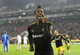 """Vokietijoje debiutavęs M. Batshuayi dubliu prisidėjo prie """"Borussia"""" pergalės (VIDEO)"""